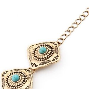 Jewelry - Bracelet Gold Coin with Turquoise Stones